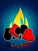 Hot gambling card games