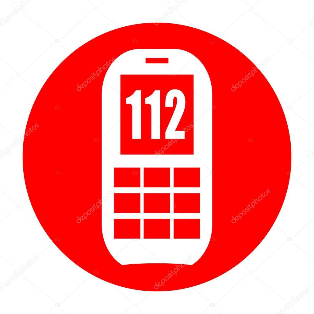 112 の緊急電話番号 — ストック...