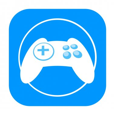 Game controller joypad icon isolated on white background stock vector