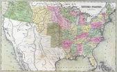 Fotografie Antique map of United States