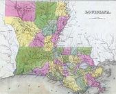 Fotografie Antique map of Louisiana