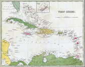 Fotografie Antique map of Cuba and the Caribbean