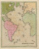 Fotografie Antique map of the Atlantic Ocean