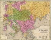 Fotografie Antique map of Eastern Europe