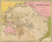 Fotografie Antique map of the Pacific Ocean