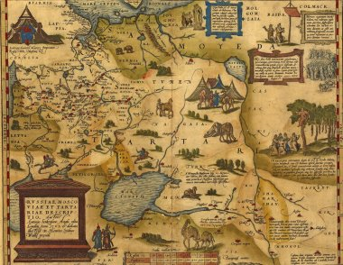 Antique Map of Russia and Tartary
