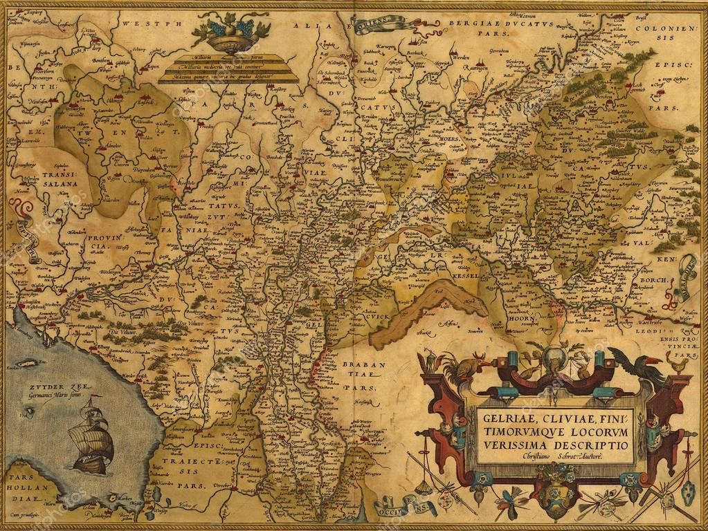 Map Of Germany And The Netherlands.Antique Map Of Germany And The Netherlands Stock Photo C Cascoly
