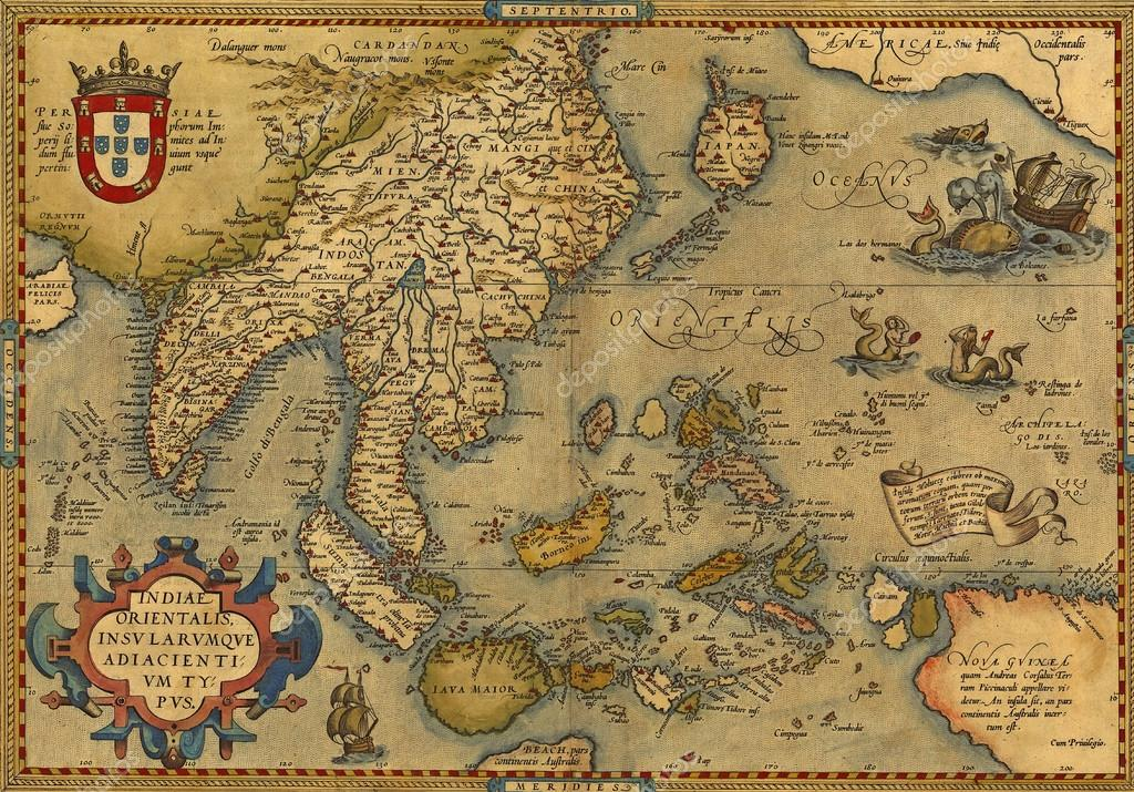 Map Of China And Southeast Asia.Antique Map Of China And Southeast Asia Stock Photo C Cascoly
