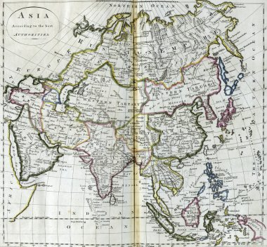 Antique map of Asia