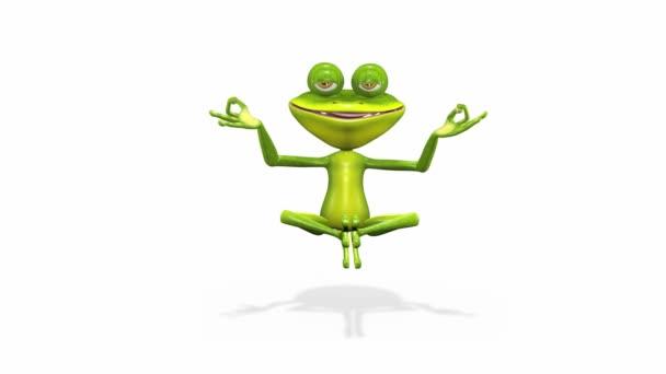 Frosch meditiert