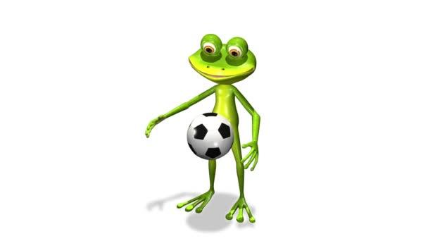 fotboll spelare groda