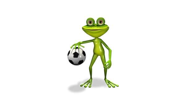 Fußball Spieler Frosch