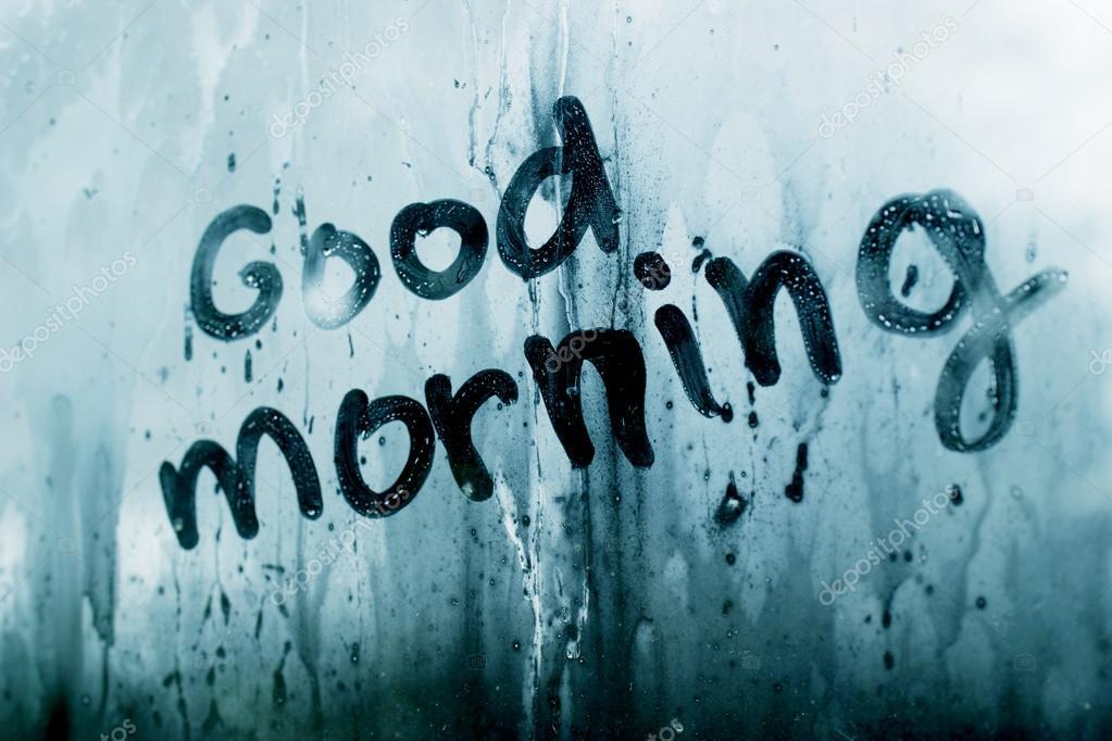 доброе утро на стекле картинки