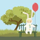Kleines Kind im Bunny-Kostüm