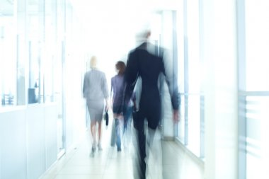 businesspeople walking