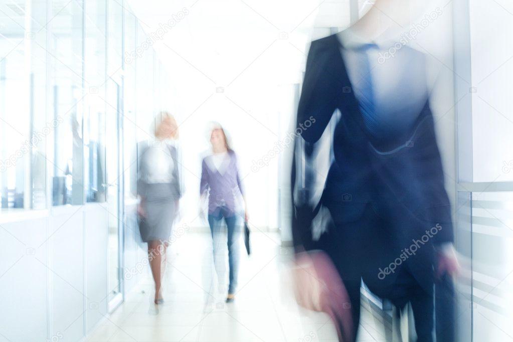 Businesspeople walking in the corridor