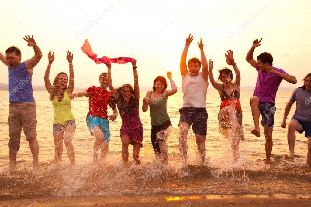 party on sea beach