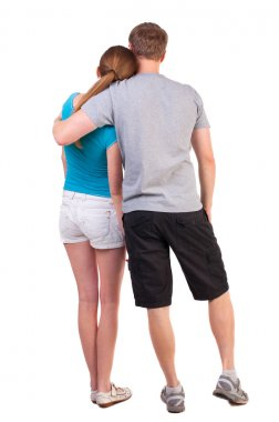 Back view of young couple