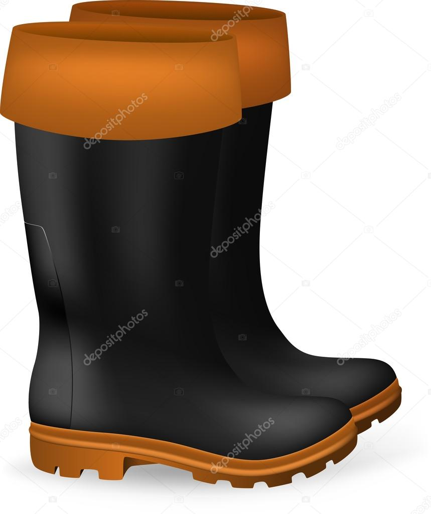 Blank Safety Rubber Boots Template Stock Vector Barghest 42487767