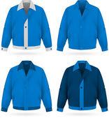 Plainblue  jacket template.