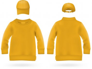 Plain long sleeve shirt with baseball hats for kids.
