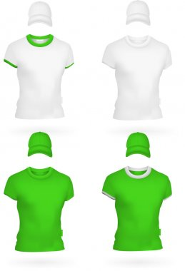 Plain men's t-shirt template.