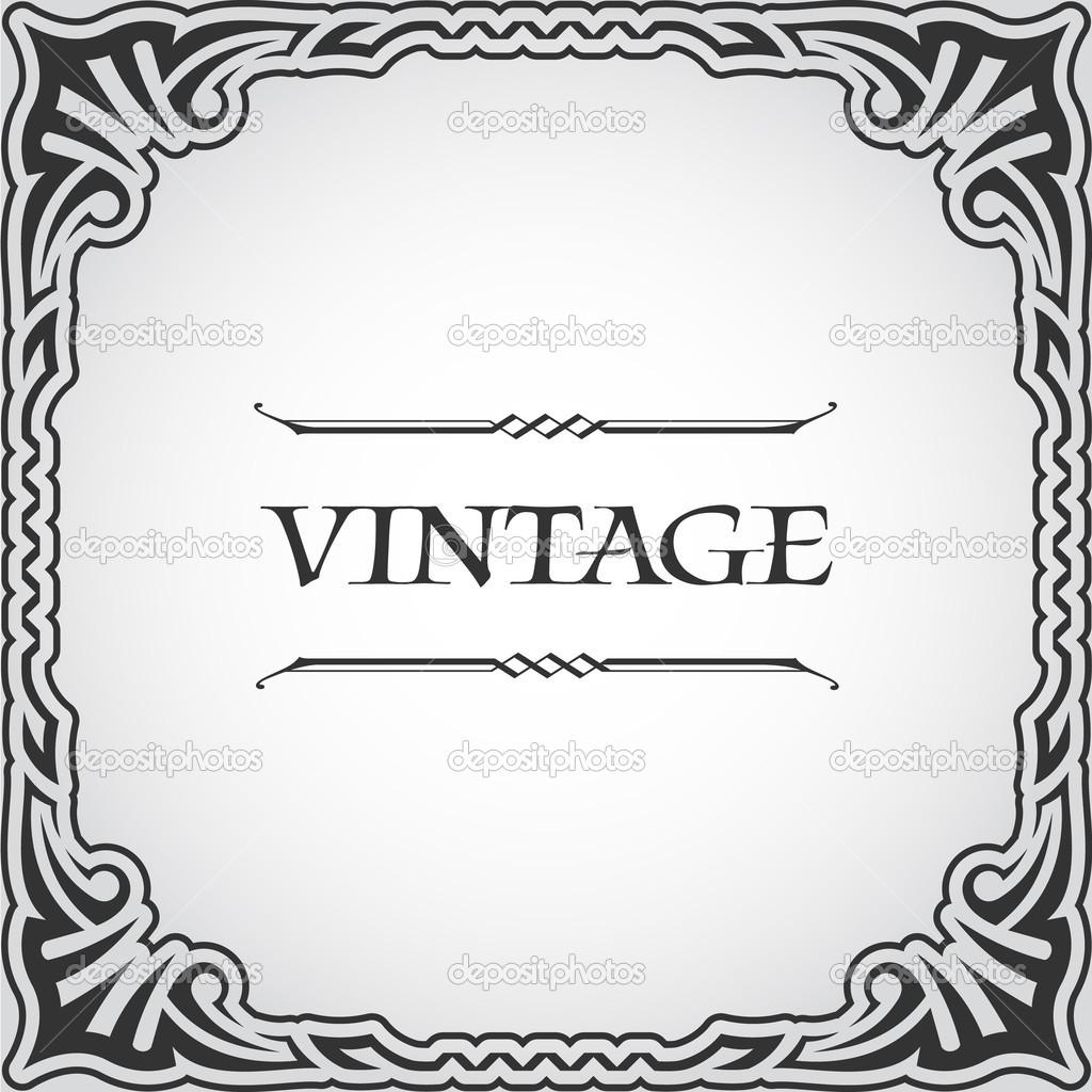 vector marco de la vendimia — Archivo Imágenes Vectoriales © flanker ...