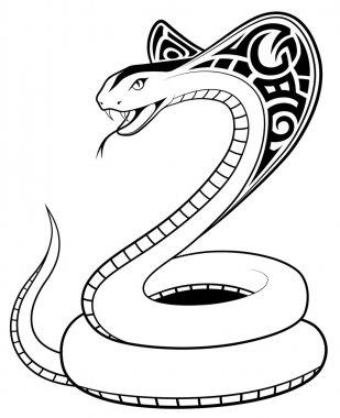 Vector Snake, tribal tattoo