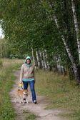 Photo Girl with dog