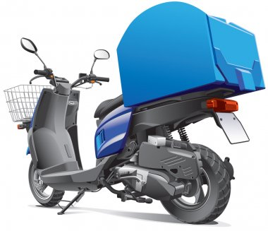 scooter for delivery goods