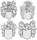 Fotografie set of aristocratic emblems No4