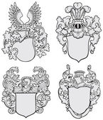 Fotografie set of aristocratic emblems No3