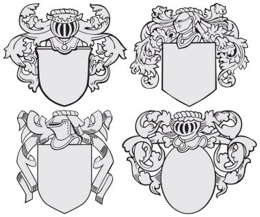 set of aristocratic emblems No5