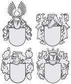 set of aristocratic emblems