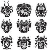 Set of heraldic silhouettes No4