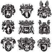 Set of heraldic silhouettes No5