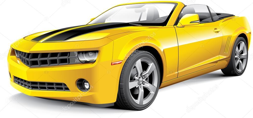 American muscle car convertible