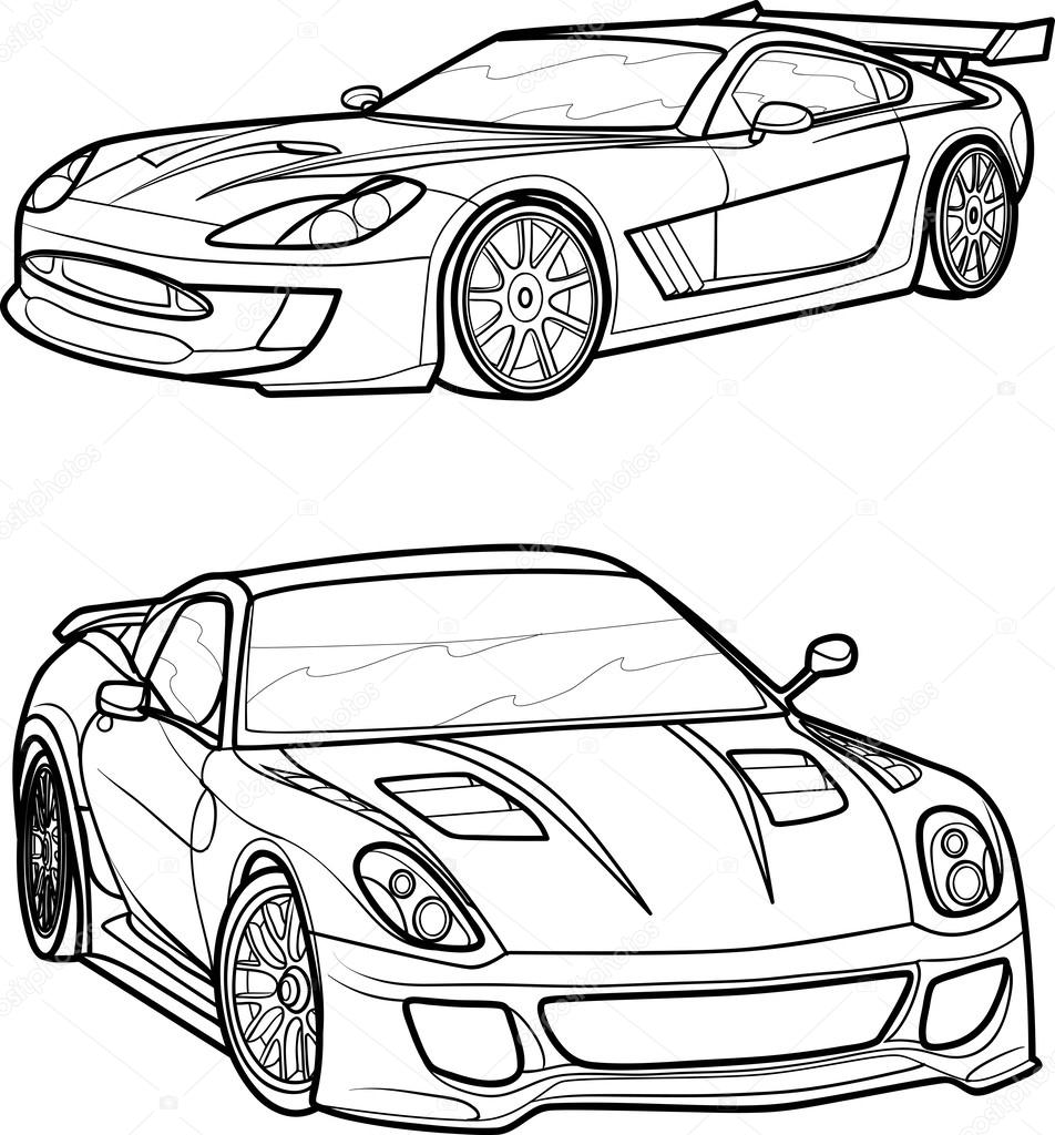 Black Outline Vector Car Stock Vector C Kopirin