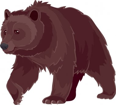 Bear vector technology is designed stock vector