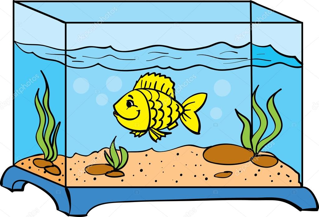 one small fish in an aquarium stock vector kopirin 34301499 rh depositphotos com aquarium clipart gif aquarium clipart gif