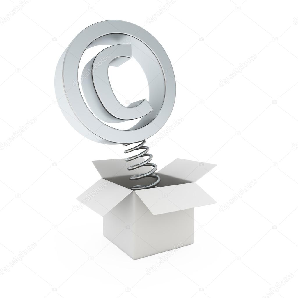 Copyright Symbol In The Gift Box Stock Photo Timbrk 23574175
