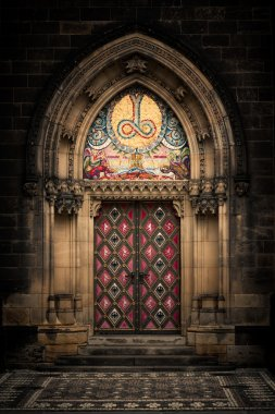 Entrance door of St. Peter and Paul church in Prague