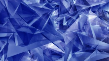 Geometric blue triangular shapes