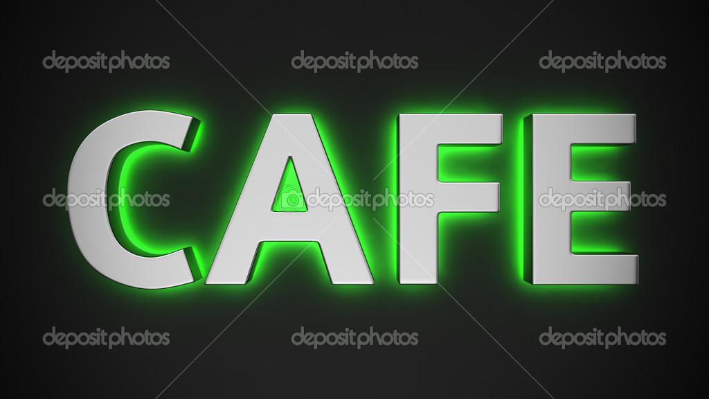 Картинка с надписью кафе