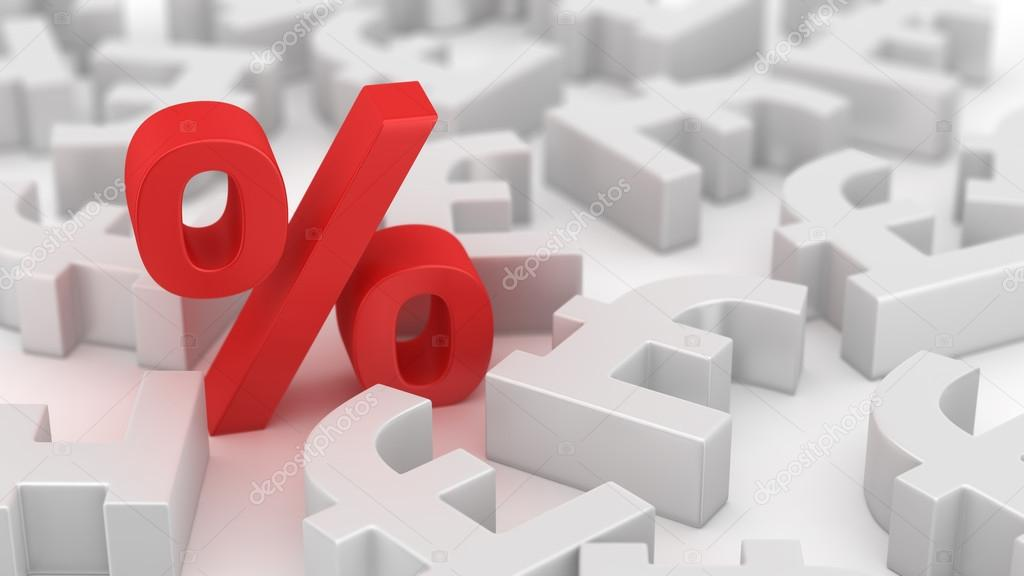 Mighty Percent Of Pounds Stock Photo Timbrk 42333277