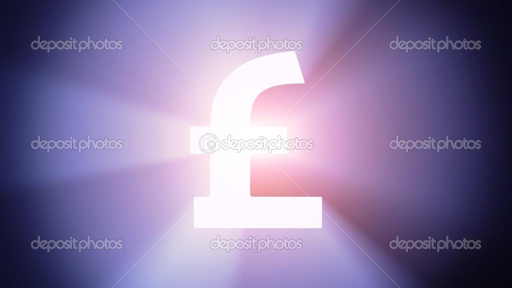 Illuminated Pound Stock Photo Timbrk 43414045