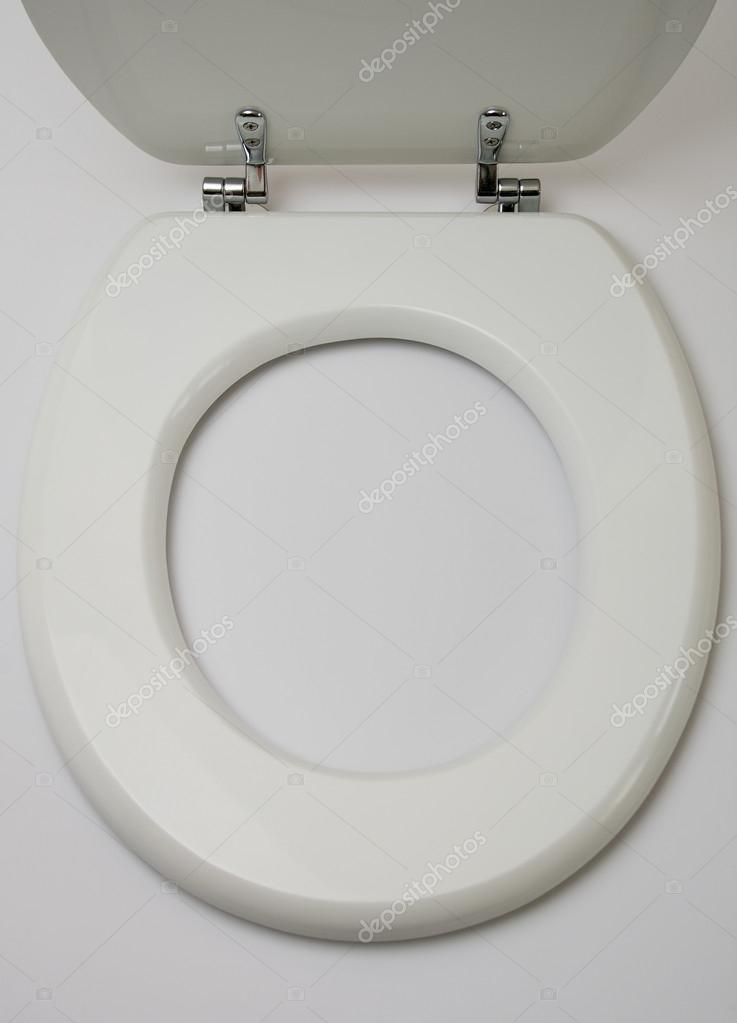 toilet seat top view. Top View Open Wooden Toilet Seat On White Background \u2014 Photo By Nickondr