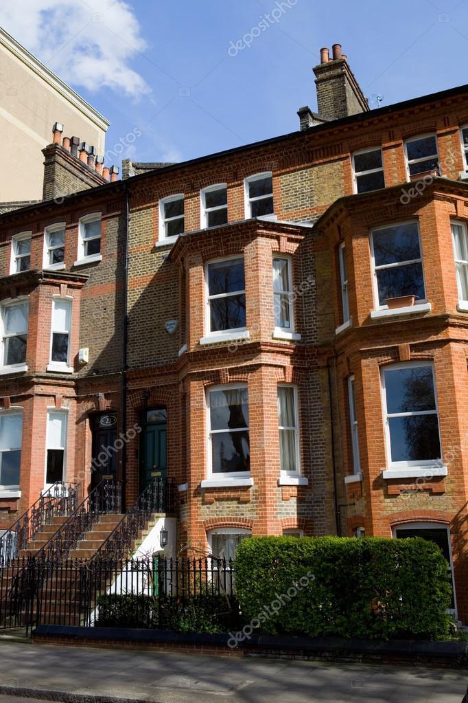 Typische Schöne London Häuser In England U2014 Stockfoto