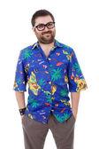 pošetilý mladík s havajské košile