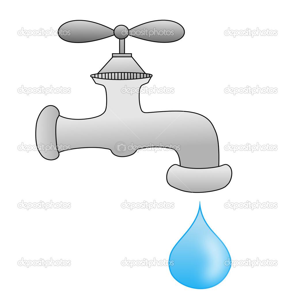 Un impianto idraulico rubinetto con una goccia d 39 acqua for Imagenes de llaves de agua
